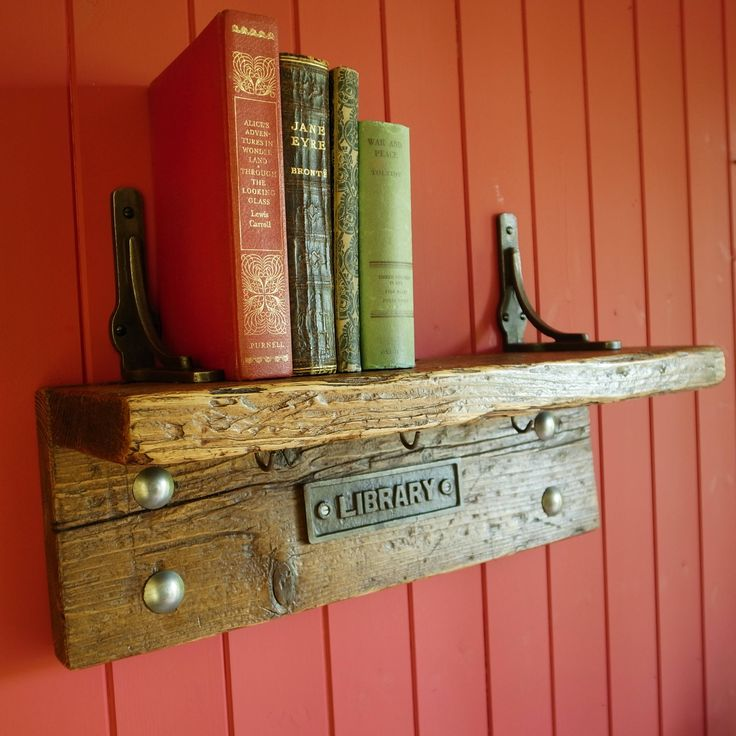 Vintage Library Bookshelf Rustic Industrial Bookcase Storage