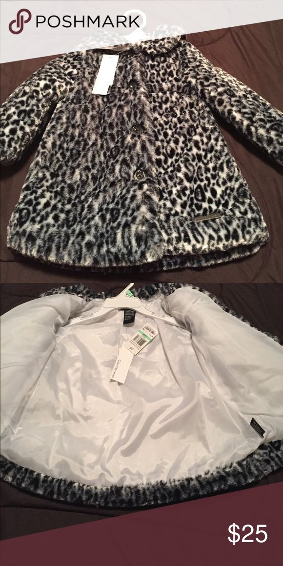 Black/white faux fur jacket Adorable faux fur. Calvin Klein Jeans Jackets & Coats Puffers