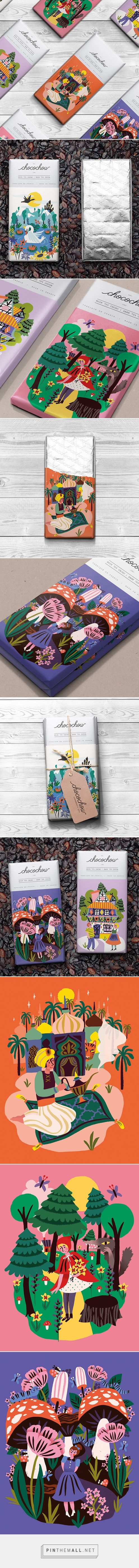 Graphic design, illustration and packaging for Fairytale Chocolate Bars / Chocochou on Behance byMarijke Buurlage Leeuwarden, Netherlands curated by Packaging Diva PD. Yummy fantasy chocolate.