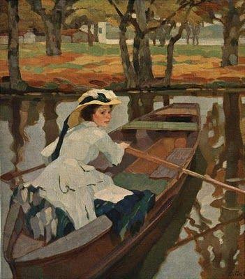 by Leo Putz (1869-1940) German Artist