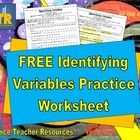 Teaching about variables or the scientific method?   This FREE, printable, reproducible worksheet (answer key included) can help with independent, dependent, and control variables!