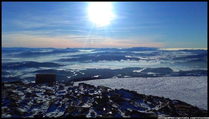 zima na Babiej Górze (Diablak)- królowej Beskidów / Babiogórski Park Narodowy (BPN) / góry / Poland / mountains / panorama na Tatry z Babiej Góry