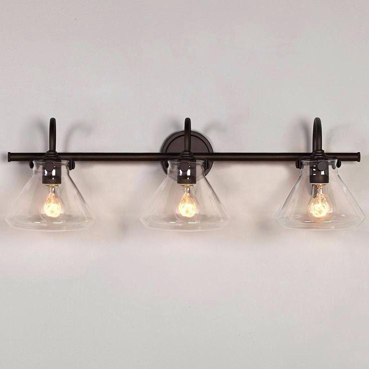 retro bathroom lighting rustic
