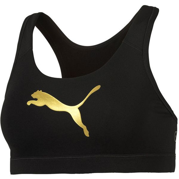 Puma Women's PWRSHAPE Forever Bra Black Bras M-One Size (39 BGN) ❤ liked on Polyvore featuring activewear, sports bras, black, racer back sports bra, puma sportswear, puma sports bra, racerback sports bra and puma activewear