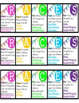 RACE writing strategy for constructed response questions