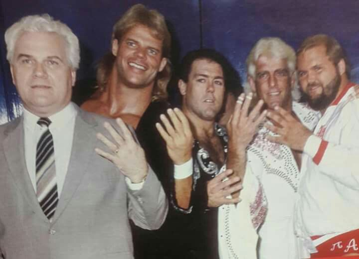 Image result for Flair, Arn Anderson, Tully Blanchard and Lex Luger