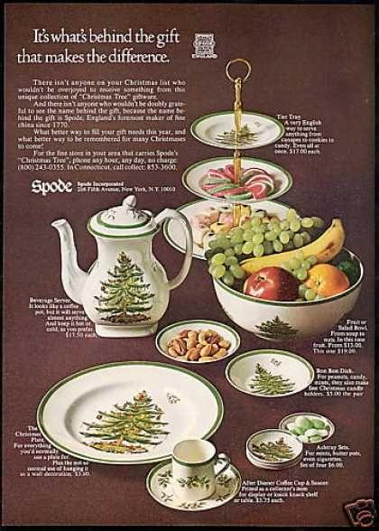 Spode Christmas Tree Pattern China Photo (1968)