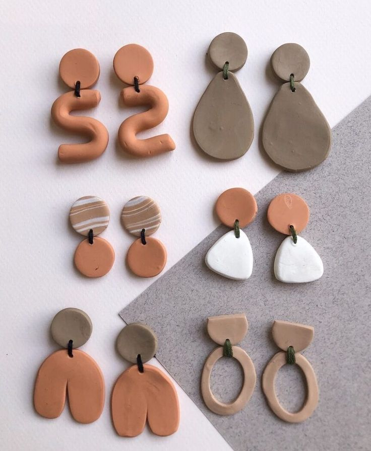 DIY Polymer Earring Collection | Polymer earrings, Clay ...