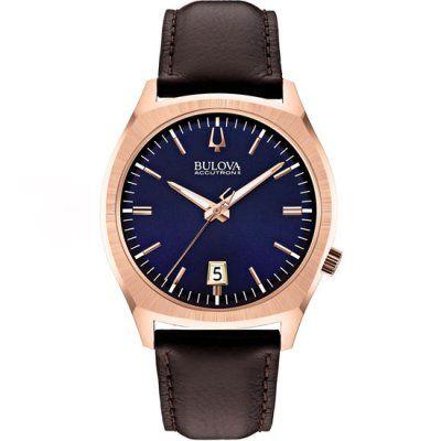 Bulova Accutron II Men\'s Precisionist Brown Leather Watch 97B133 - RRP: £349.00 - Online Price: £296.00