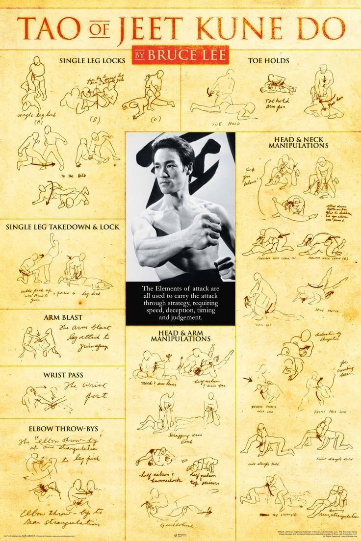 NMR 24753 Bruce Lee Teaching Decorative Poster
