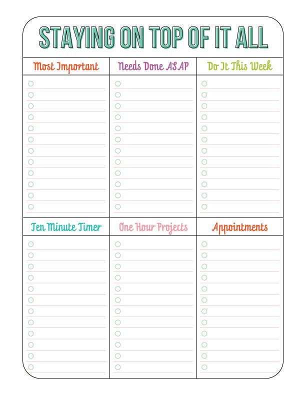 Best 25 time management printable ideas on pinterest for Time management planner templates free