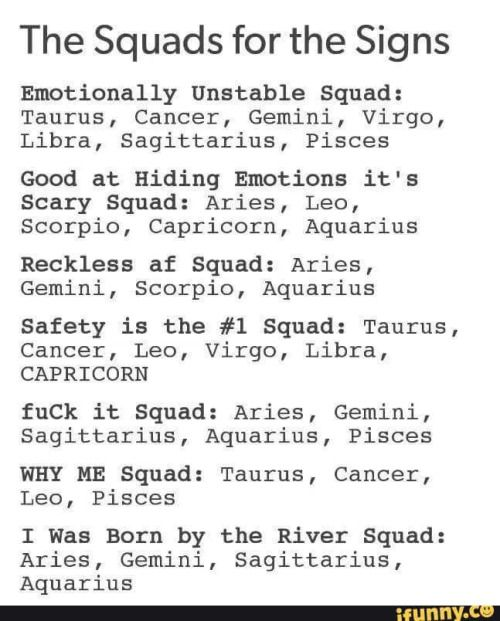 Virgo and only the first squad I'm in is true ~AS