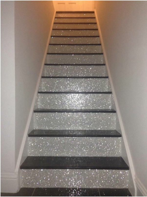 Glitter stairs!!                                                                                                                                                      More