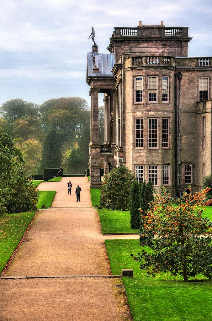 Lyme Park, Disley, Cheshire.  The estate was granted to Sir Thomas Danyers in 1346 and passed to the Leghs of Lyme by marriage in 1388. It remained in the possession of the Legh family until 1946 when it was given to the National Trust. The house dates from the latter part of the 16th century. Modifications were made to it in the 1720s by Giacomo Leoni.