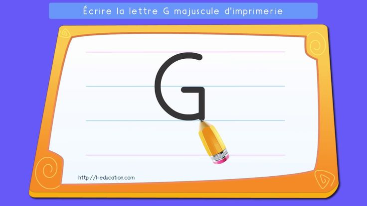 Un contenu captivant sur Apprendre à écrire la lettre G en capitale d'imprimerie