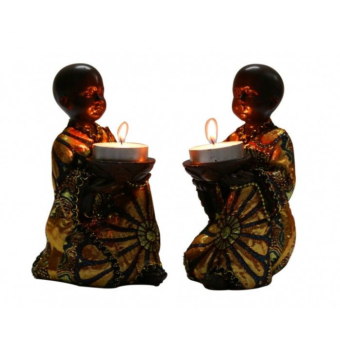 Name : Monks with Bowls( Set of 2 ) Price : Rs 999 Buy Now at : http://www.indikala.com/pair-of-small-kneeling-monks-with-bowls.html   #Buddha #Figurines #BuyOnline