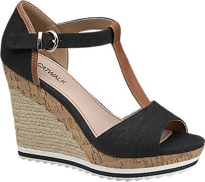 Graceland Siyah Dolgu Topuk Ayakkabı