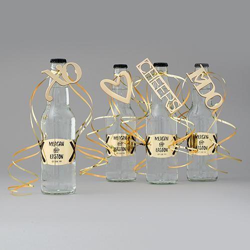 Gold CHEERS Bottle Opener Wedding Favor (Pack of 1)
