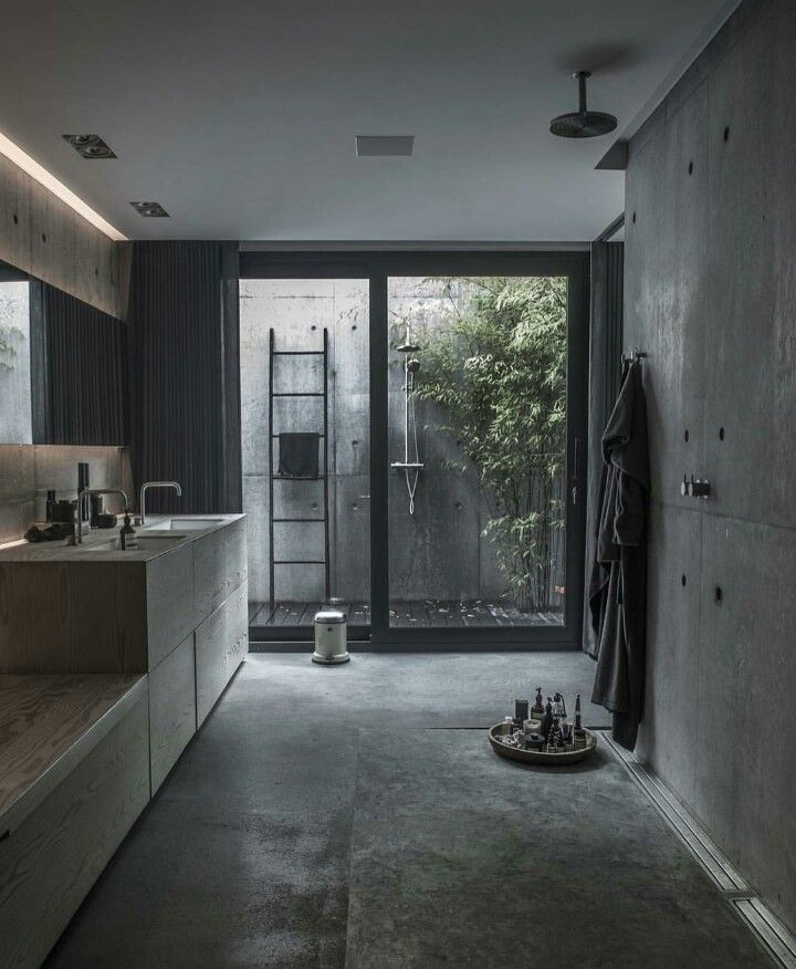 modern bathroom fountain valley reviews%0A Simple geometry and structural dynamism create a unique residential space  in Risskov  Denmark  Villa is designed by ARDESS as a single family home  with four