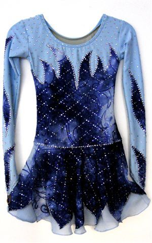 """Custom made ice skating dress """"Wounder"""" for competition by Zhanna Kens @ www.ZhannaKens.com"""