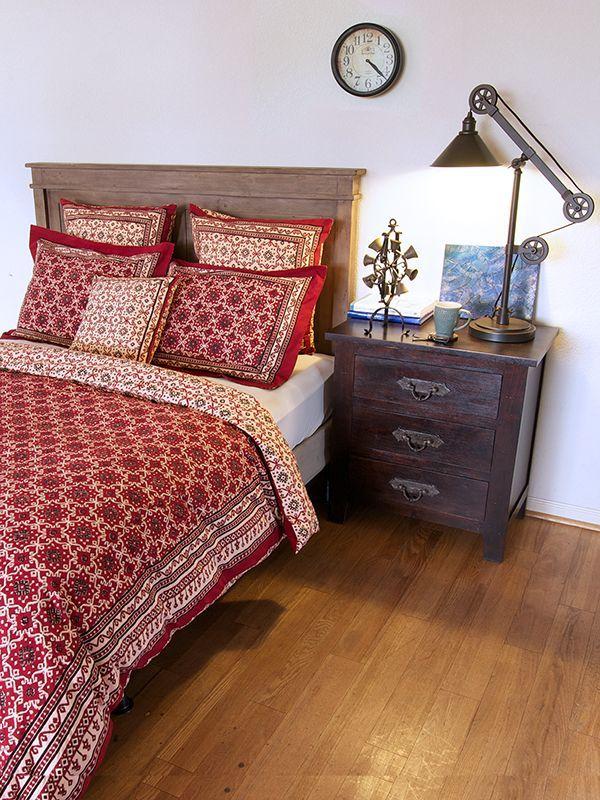 ruby kilim rustic red black lodge cabin duvet cover wood bedroom rh pinterest it
