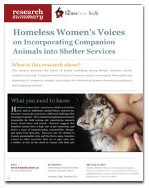 homeless summary 76 stress management group counseling for homeless women: a summary and evaluation of literature chasidy faith abstract: stress is exceedingly prevalent and affects individuals in a variety of ways therefore.