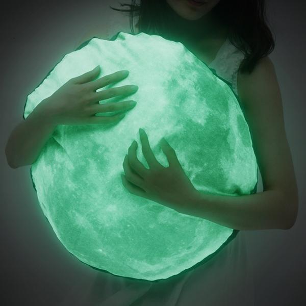 Moonlight Cushion (Glow-in-the-dark)Moon Cushions, Stuff, Moon Pillows, Dark Moon, Floors Pillows, Glow In The Dark, Moonlight Cushions, Products, The Moon