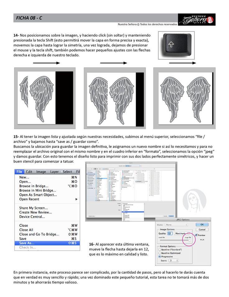 Ficha 08C / Simetría en Photoshop 03 - Caos Tattoo, Estudio de Tatuajes en Santiago Chile, Tatuadores Profesionales