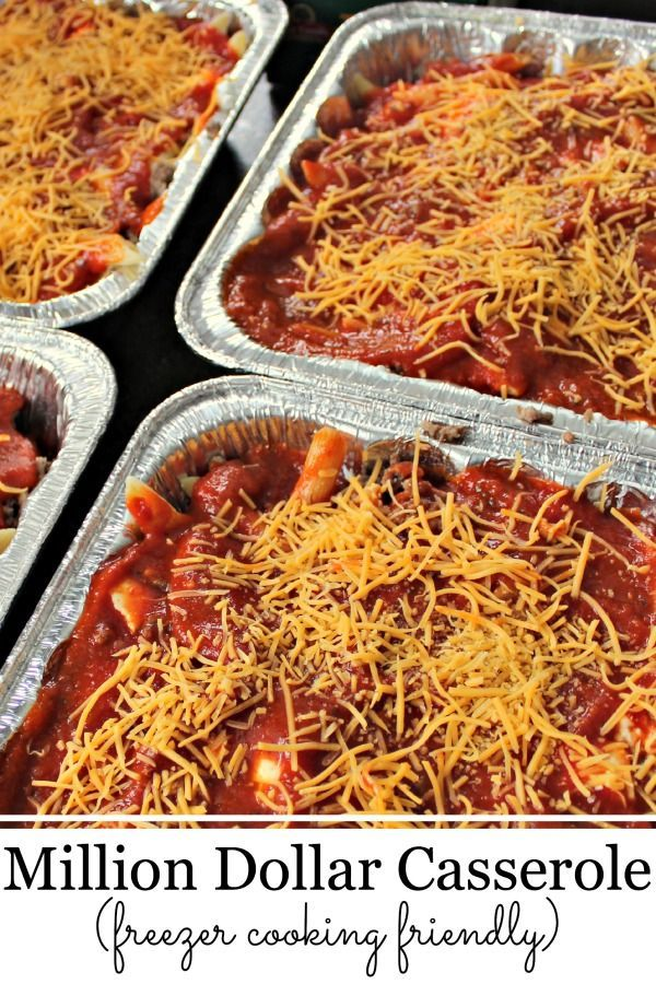 Easy Recipes with Ground Beef -Million Dollar Casserole - Freezer Friendly