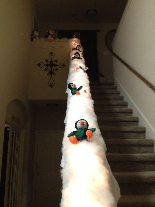 Turn your banister into a penguin slide…
