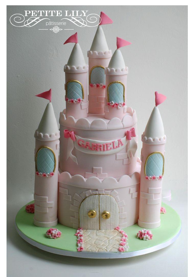 Princess Castle Cake Bolo De Castelo De Princesas