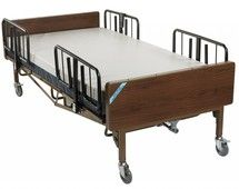 Full Electric Bariatric #Hospital #Bed with Mattress and T Rails - 15303bv-pkg
