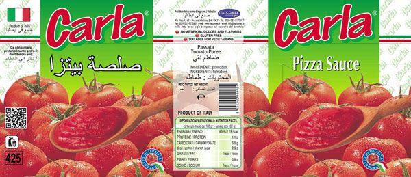 ピザソース Carla カーラ·ブランドの伝統的な品質の食品|イタリアItalcomex味