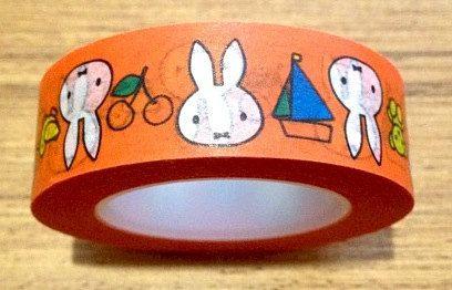 miffy washi paper tape orange