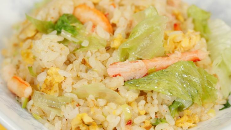 How to Make Crab Lettuce Chahan かにとレタスの炒飯の作り方 字幕表示可 材料(日本語)↓ (serves 1) 150g Hot Steamed Rice (5.3 oz) 50g Crab Meat, packaged (1.8 oz) 30g Long Green Onion,...
