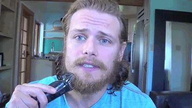 Sam, goodbye beard xD