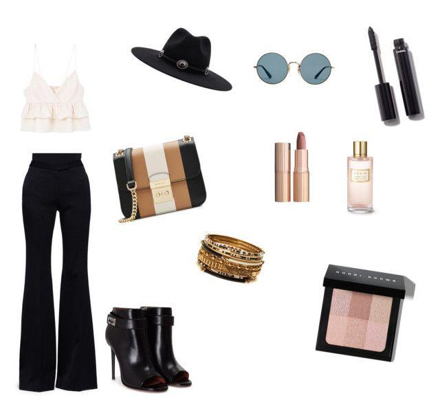 boho chic by hilalozkan on Polyvore featuring moda, MANGO, Alexander McQueen, Givenchy, MICHAEL Michael Kors, Amrita Singh, Ray-Ban, Brixton, Bobbi Brown Cosmetics and Chanel