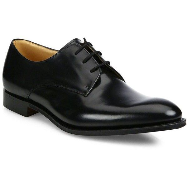 Church's Oslo Leather Derby Dress Shoes (17 120 UAH) ❤ liked on Polyvore featuring men's fashion, men's shoes, men's dress shoes, men, shoes, male clothes, mens black derby shoes, mens lace up shoes, mens leather shoes and mens derby shoes