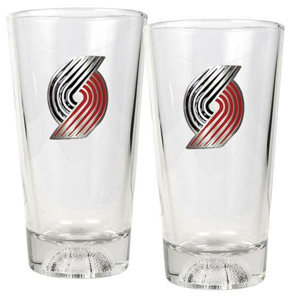 Portland Trail Blazers 16oz. Sculpted Pint Glass Set - $34.99