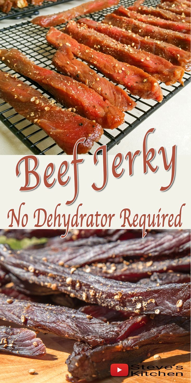 Beef Jerky - Yum Yum. This can be expensive to buy but so easy to make. Watch how Steve turns a piece of Beef into beautiful tasting Beef Jerky and all without a dehydrator.  Check my Channel for the recipe: https://youtu.be/jDVo0XW2GOM