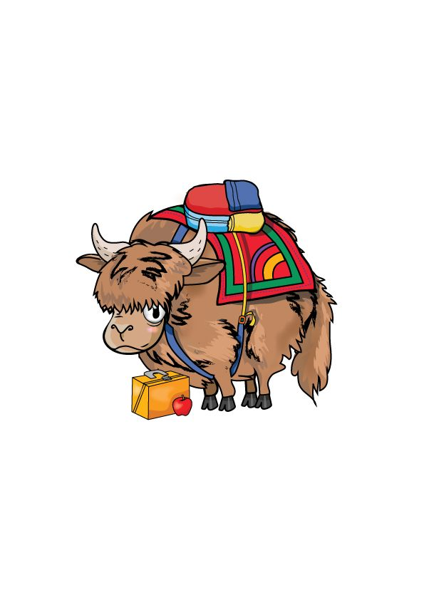 Young Yak made for an English textbook called Tiddly Link 5 by Marcelle Versteeg.