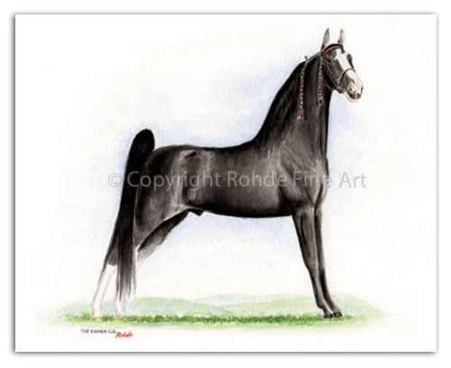 THE-PUSHER-C-G-famous-Tennessee-Walker-Walking-Horse-Art-signed-NICE