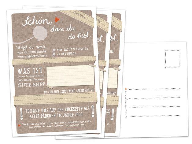 Hochzeitsspiel: 52x Schön, dass du...Postkarten