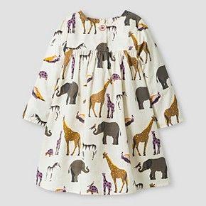 Happy by Pink Chicken Baby Girls' Animal Dress - Beige 6-12M : Target