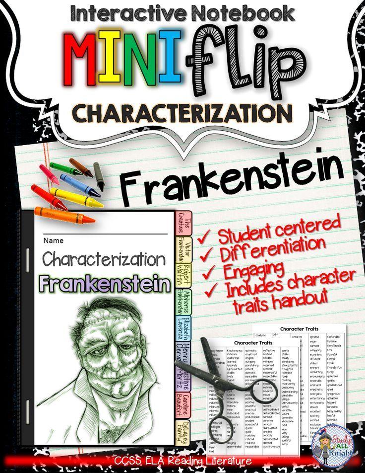 Frankenstein: Interactive Notebook Characterization Mini Flip ($)