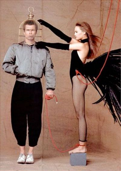 Jean-Paul Goude & Vanessa Paradis   1991 Put the guy in the cage for once. Awesome!