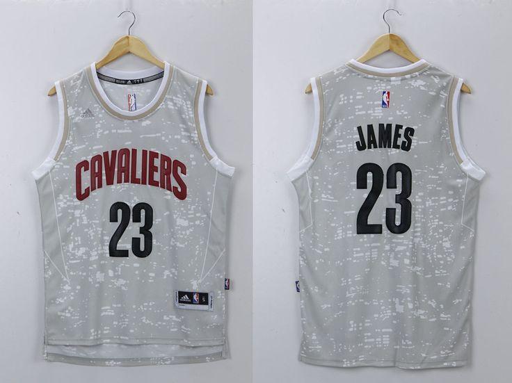 Cleveland Cavaliers #23 James Grey Men 2017 New Logo NBA Adidas Jersey