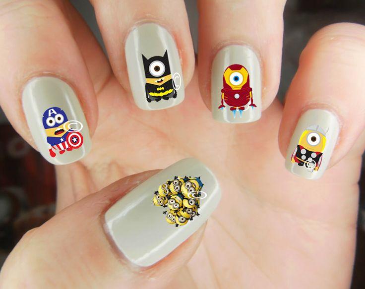 Despicable Me superhero nail decal