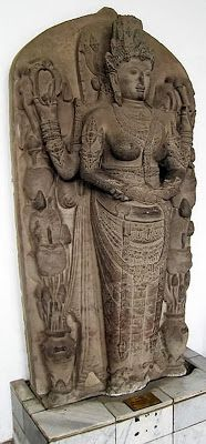 Image 2: Sri Tribhuwanatunggadewi Maharajasa Jayawisnuwardhani, portrayed as Parvati (or perhaps as Harihara-type combination of Parvati and Lakshmi). This image is from Candi Rimbi, Pulosari Village, Bareng District, Jombang, East Java. It is currently part of the collection of the National Museum of Indonesia, Jakarta.