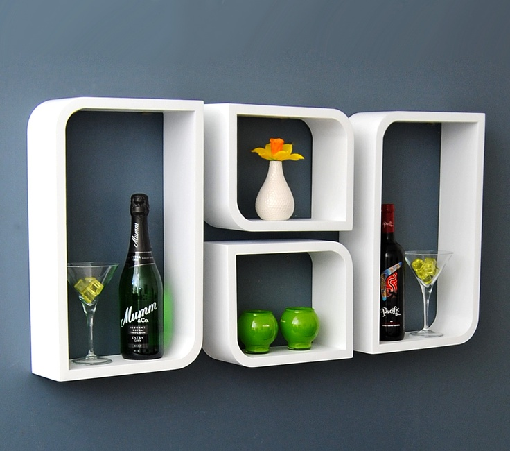 die besten 25 wandregal cube wei ideen auf pinterest. Black Bedroom Furniture Sets. Home Design Ideas